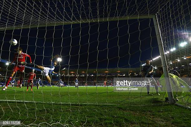 Gaston Ramirez of Middlesbrough scores his sides second goal during the Sky Bet Championship match between Birmingham City and Middlesbrough at St...