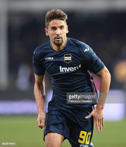 Gaston Ramirez of UC Sampdoria in action during the serie A match between Benevento Calcio and UC Sampdoria at Stadio Ciro Vigorito on January 6 2018...