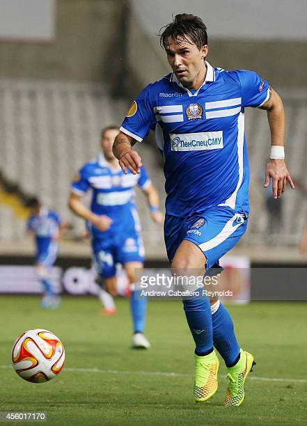 Gaston Sangoy from Apollon Limassol FC in action in the UEFA Europa League match between Apollon Limassol FC ad FC Zurich on September 18 2014 in...