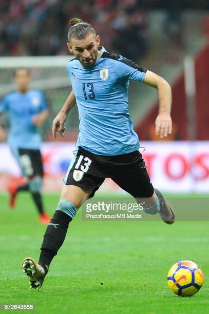 Gaston Silva of Uruguay during international friendly match between Poland and Uruguay at National Stadium on November 10 2017 in Warsaw Poland