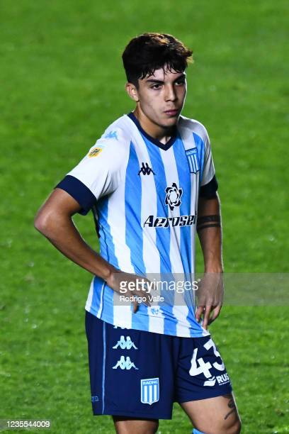 Gaston Viera of Racing Club reacts after losing a match between Argentinos Juniors and Racing Club as part of Torneo Liga Profesional 2021 at Diego...