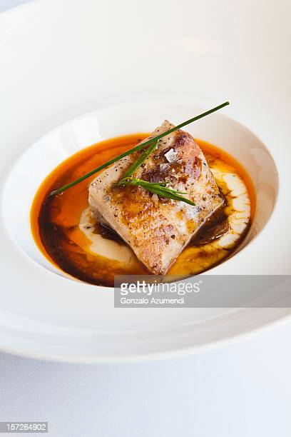 gastronomy in catalan pyrenees. - sturgeon fish stock pictures, royalty-free photos & images