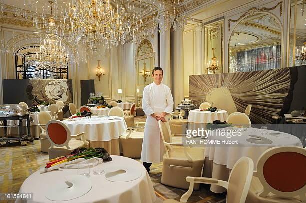 The Restaurant Alain Ducasse Of Hotel Plaza Athenee Run By The Chef Christophe Saintagne Paris 19 November 2010 Christophe SAINTAGNE new chef Alain...