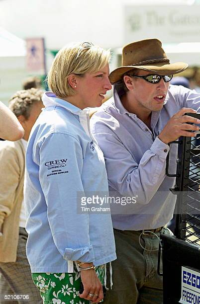 Gatcombe Park Horse Trials At Princess Anne's Home In Gloucestershire Peter Phillips With His Friend Elizabeth Iorio