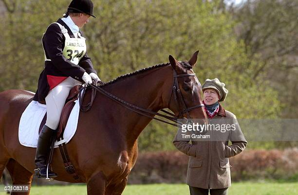 Gatcombe Park Horse Trials At Princess Anne's Home In Gloucestershire Princess Anne With Her Daughter Zara Phillips