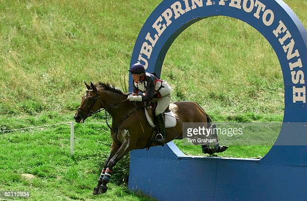 Gatcombe Park Horse Trials At Princess Anne's Home In Gloucestershire P_eter Phillips's Friend Elizabeth Iorio From The USA Competing On Her Horse...