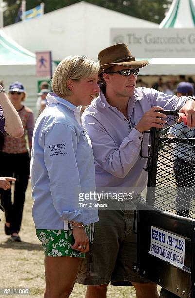 Gatcombe Park Horse Trials In Gloucestershire Peter Phillips With His Friend Elizabeth Iorio