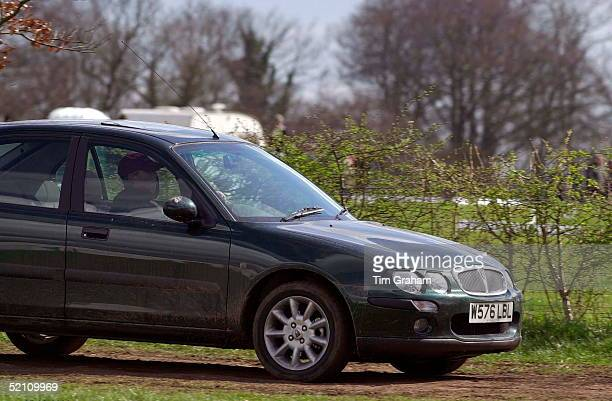 Gatcombe Park Horse Trials Sponsored By Land Rover Zara Phillips Daughter Of Princess Anne Driving Her Rover Car