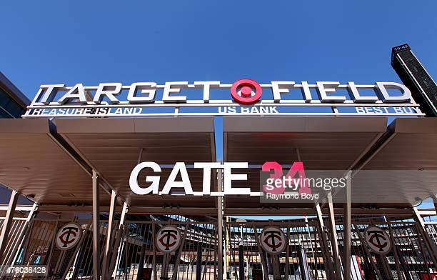 Gate 34 at Target Field home of the Minnesota Twins baseball team on May 22 2015 in Minneapolis Minnesota