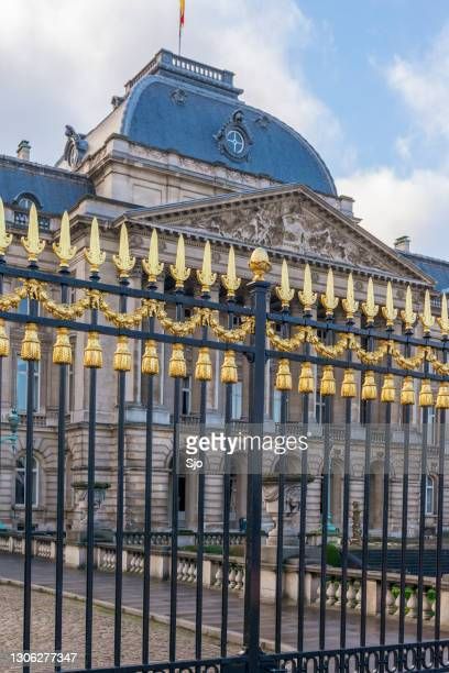 """gate at the royal palace of brussels the official palace of the king and queen of belgium - """"sjoerd van der wal"""" or """"sjo"""" stock pictures, royalty-free photos & images"""