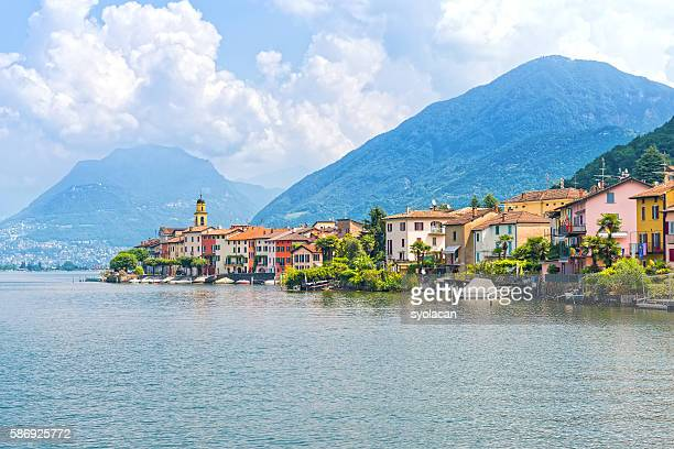porte ceresio village, italy - syolacan stock pictures, royalty-free photos & images
