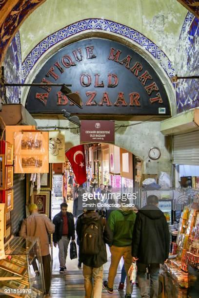 Gate Entrance number 4 Antique Market Old Bazaar Istanbul Turkey November 11 2017