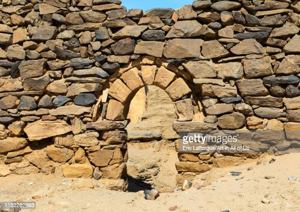 Gate in al Ghazali christian monastery Northern State Wadi Abu Dom Sudan on December 27 2018 in Wadi Abu Dom Sudan