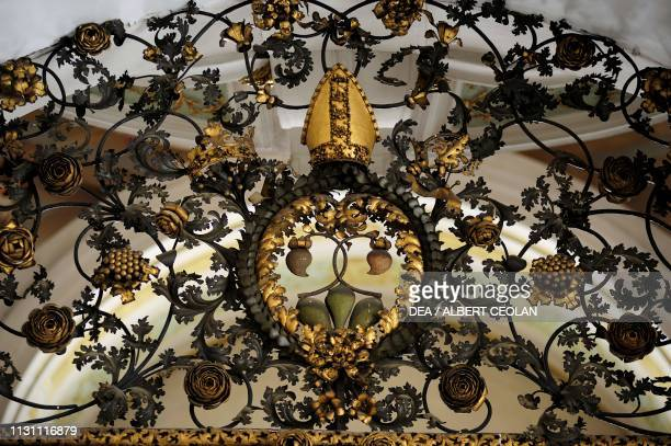 Gate in the church of the Cistercian Abbey in Stams, Tyrol, Austria, 13th-18th century.