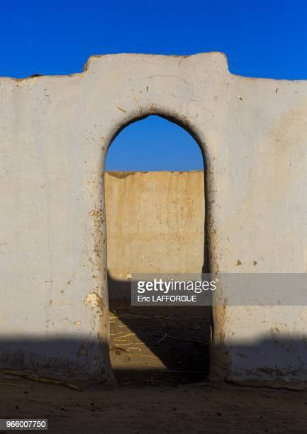 Gate in the courtyard of a traditional nubian house tumbus Sudan on March 21 2013 in Tumbus Sudan