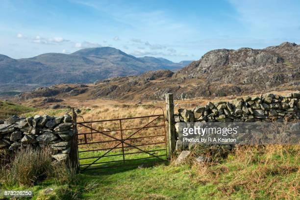 Gate in the mountains of Snowdonia national park, Wales