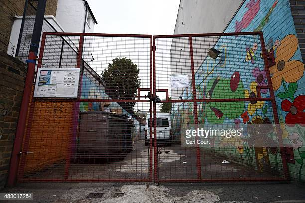 A gate is left locked at a Kids Company premises on August 5 2015 in Camberwell London England Kids Company a charity for vulnerable youngsters...