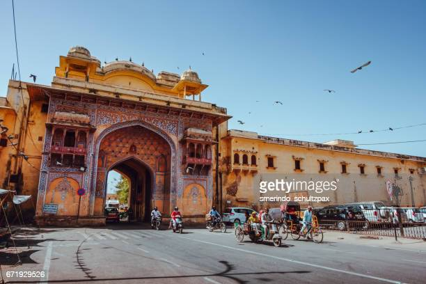 Gate leading to City Palace of Jaipur in India