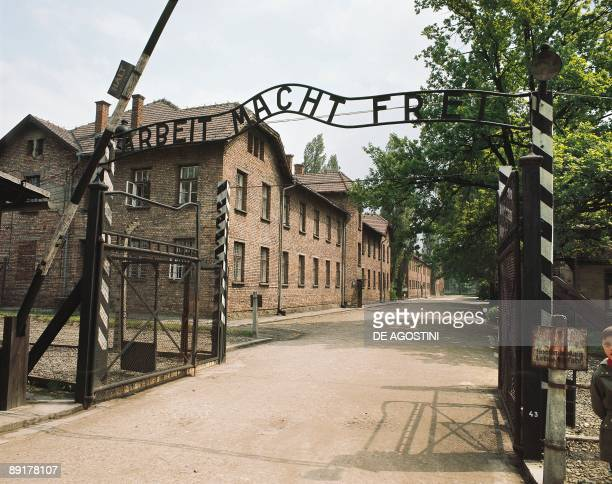 Gate of a Concentration Camp Examination Camp Auschwitz Poland