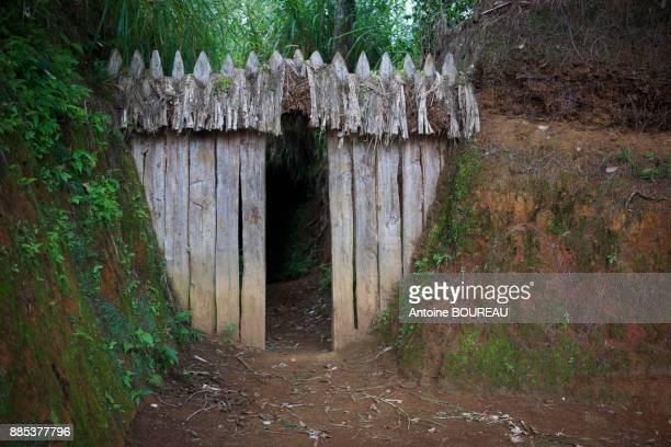 Gate of a trench separating the cultivated plots, Trench separating plots of land from different families, Tari