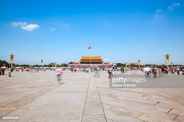 Gate of Heavenly peace from Tiananmen square with blue sky, Beijing, China