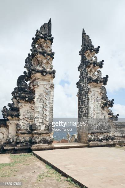 gate of paradise in bali - mauro tandoi stock photos and pictures