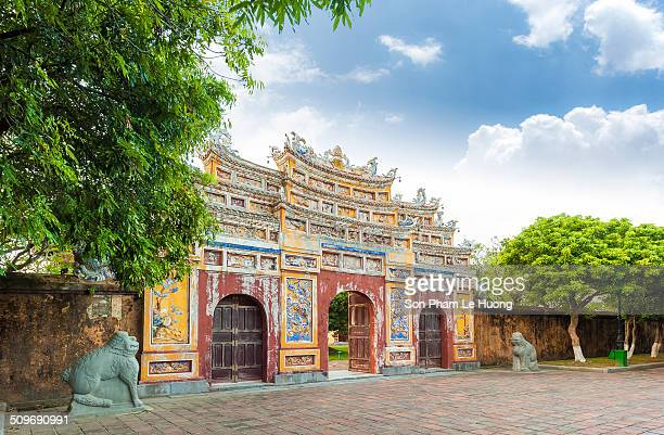 Gate of Splendor Pavillion in Citadel, Imperial City of Hue.