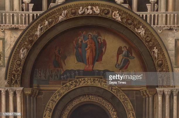 Gate of St. Mark's Basilica, St. Mark's Basilica in Venice, Signed: Silvio Risegari dip, Ferd., Ongania edit, Cromo, -, lit, Richter & C, Tav., II,...