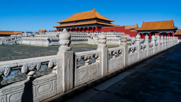 Gate of Supreme Harmony. The Forbidden City. Beijing. China