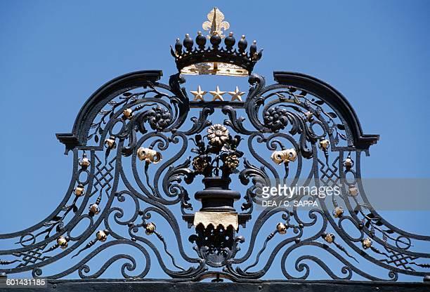 Gate of the Chateau de l'Engarran Laverune LanguedocRoussillon France 17th century Detail