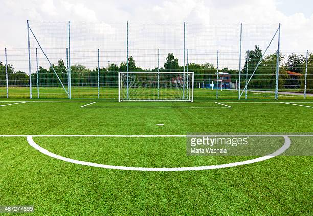 gate on a football field - soccer goal stock pictures, royalty-free photos & images