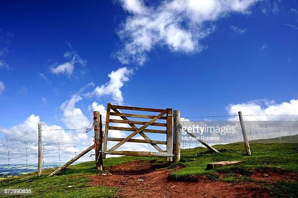 Gate on mountainside