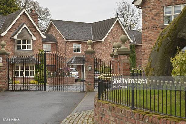 A gate preventing access to a suburban collection of houses on Saturday 2nd May 2015 in Manchester UK Gated communities are found in many places...