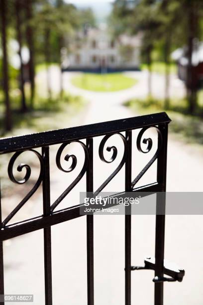 Gate to a residential