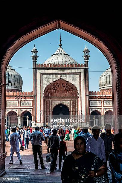 Gate to Jama Masjid mosque in Old Delhi