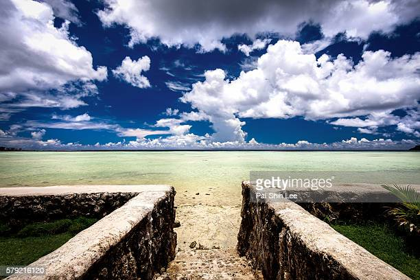 gate to the sea - guam stock pictures, royalty-free photos & images