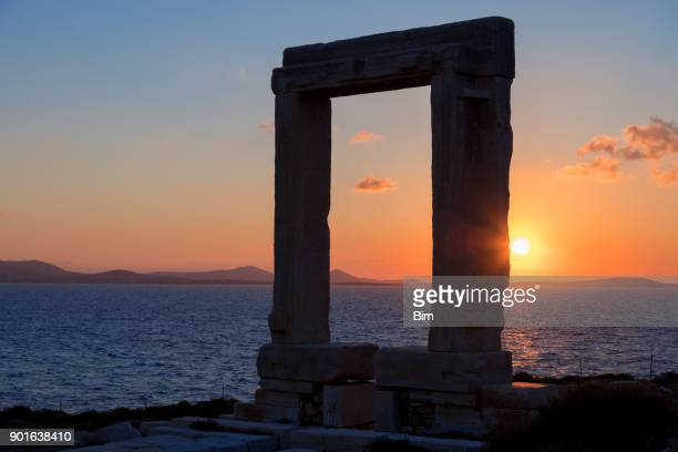 Gate to the temple of Apollo, Naxos, Cyclades, Greece