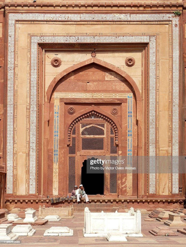 Gate to the Tomb of Islam Khan in the Mughal palace of Fatehpur Sikri, Uttar Pradesh, India : Stock Photo