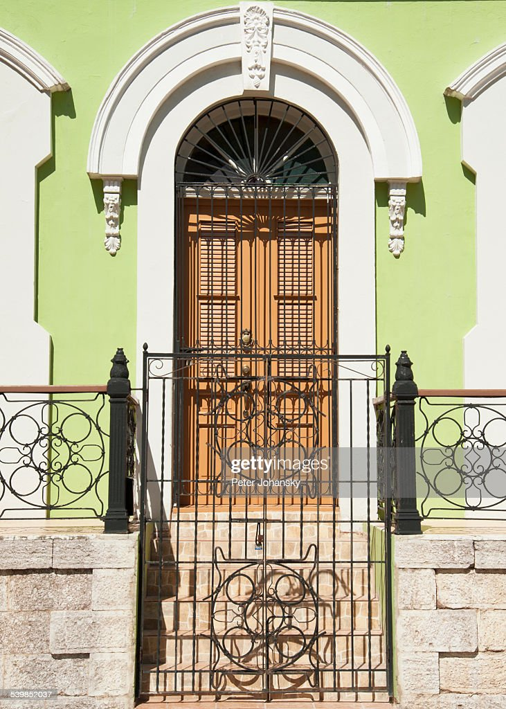 & Gated Door Entrance Stock Photo | Getty Images