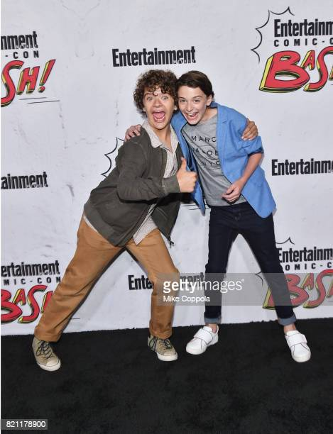 Gaten Matarazzo and Noah Schnapp at Entertainment Weekly's annual Comic-Con party in celebration of Comic-Con 2017 at Float at Hard Rock Hotel San...