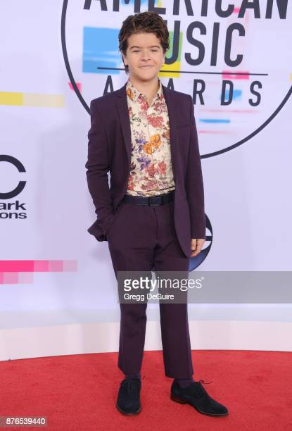 Gaten Matarazzo arrives at the 2017 American Music Awards at Microsoft Theater on November 19 2017 in Los Angeles California