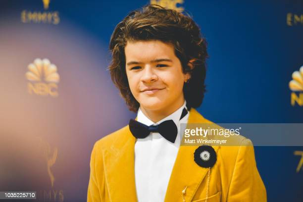 Gaten Matarazzo arrives at the 70th Emmy Awards on September 17 2018 in Los Angeles California