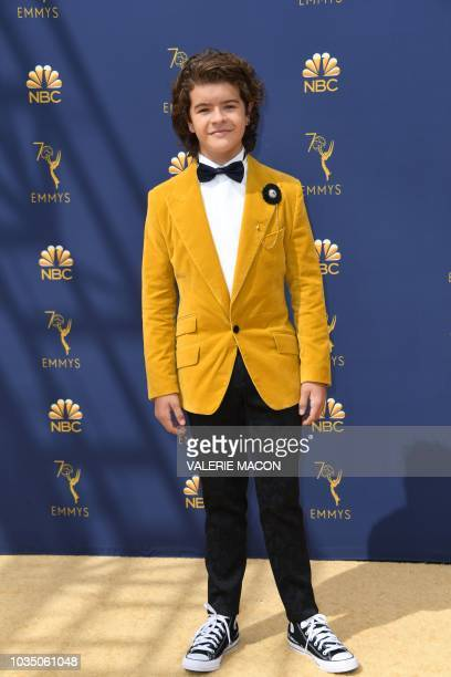 Gaten Matarazzo arrives for the 70th Emmy Awards at the Microsoft Theatre in Los Angeles California on September 17 2018