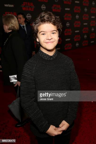 Gaten Matarazzo at the world premiere of Lucasfilm's Star Wars The Last Jedi at The Shrine Auditorium on December 9 2017 in Los Angeles California