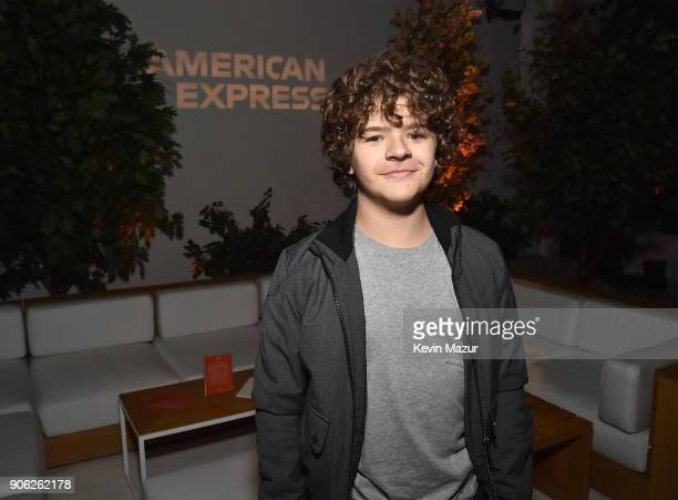 Gaten Matarazzo attends American Express x Justin Timberlake 'Man Of The Woods' listening session at Skylight Clarkson Sq on January 16 2018 in New...