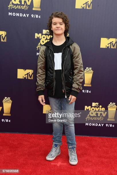 Gaten Matarazzo attends the 2018 MTV Movie And TV Awards at Barker Hangar on June 16 2018 in Santa Monica California