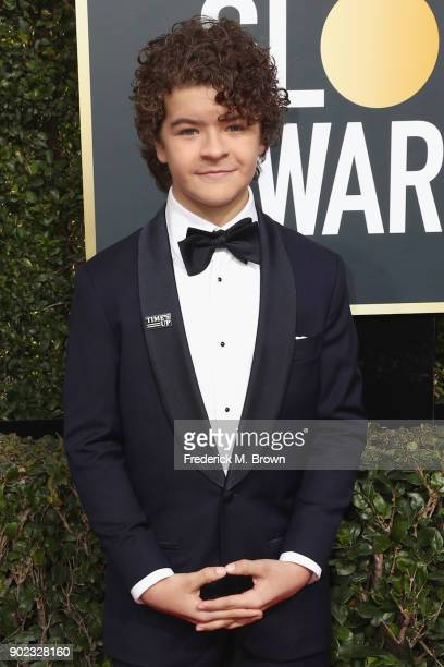 Gaten Matarazzo attends The 75th Annual Golden Globe Awards at The Beverly Hilton Hotel on January 7 2018 in Beverly Hills California