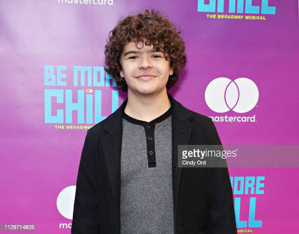Gaten Matarazzo attends the opening night of Be More Chill at Lyceum Theatre on March 10 2019 in New York City
