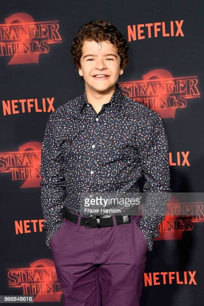 Gaten Matarazzo attends the premiere of Netflix's 'Stranger Things' Season 2 at Regency Bruin Theatre on October 26 2017 in Los Angeles California