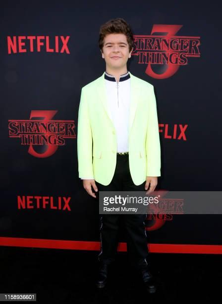 "Gaten Matarazzo attends the ""Stranger Things"" Season 3 World Premiere on June 28, 2019 in Santa Monica, California."